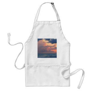 Cielo Destin de la puesta del sol de la playa Delantal