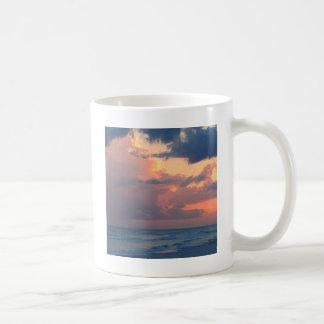 Cielo Destin de la puesta del sol de la playa Taza De Café