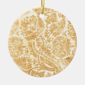 Cielo dorado adorno redondo de cerámica