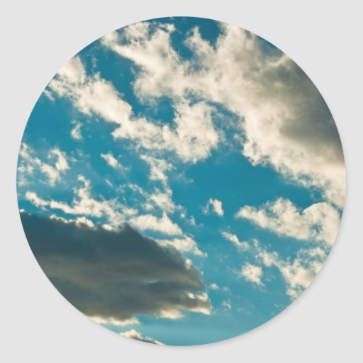 Cielo dramático pegatina redonda