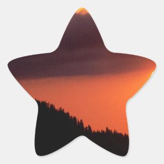 Cielo el frente caliente Oregon Pegatina En Forma De Estrella