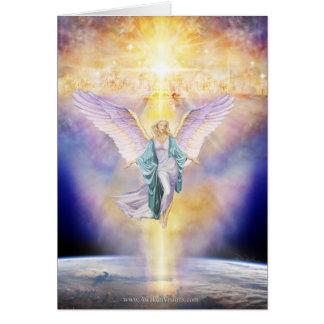Cielo en ángel de la tierra tarjeta de felicitación