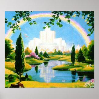 Cielo en el poster de la tierra póster