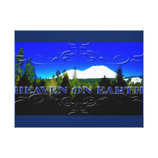 Cielo en la montaña del dinero de la tierra el   lona estirada galerías