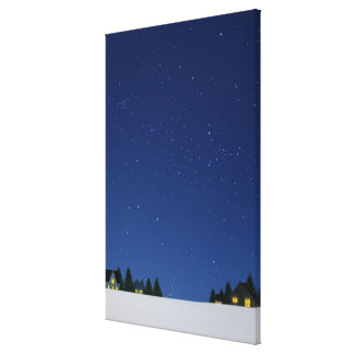 Cielo en la noche 2 lienzo envuelto para galerias