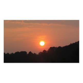 Cielo en la puesta del sol tarjeta de negocio