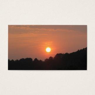 Cielo en la puesta del sol tarjetas de visita