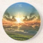 Cielo en la tierra posavasos personalizados
