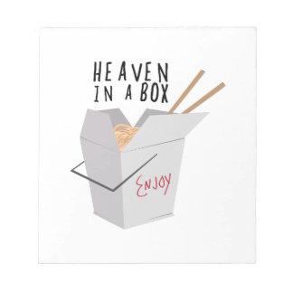 Cielo en una caja bloc de papel