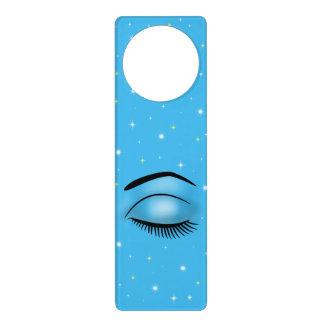 Cielo estrellado azul azul del ojo femenino el dor colgador para puerta