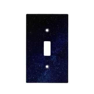 Cielo estrellado azul cubierta para interruptor