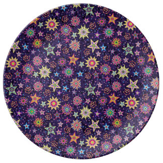 Cielo estrellado colorido del arte popular
