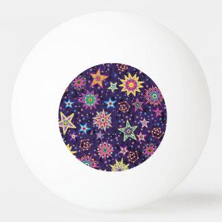 Cielo estrellado colorido del arte popular pelota de ping pong