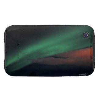 Cielo estrellado de la aurora boreal carcasa resistente para iPhone