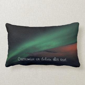 Cielo estrellado de la aurora boreal; cojín
