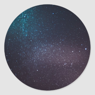 Cielo estrellado hermoso pegatina redonda