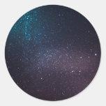 Cielo estrellado hermoso pegatinas redondas