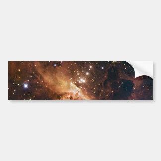 Cielo estrellado marrón de Pismis 24 Pegatina De Parachoque