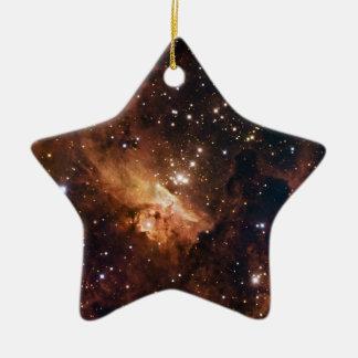 Cielo estrellado marrón de Pismis 24 Ornamento Para Arbol De Navidad
