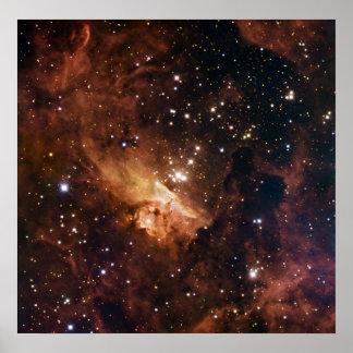 Cielo estrellado marrón de Pismis 24 Póster
