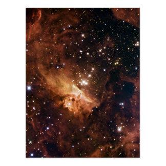 Cielo estrellado marrón de Pismis 24 Postal