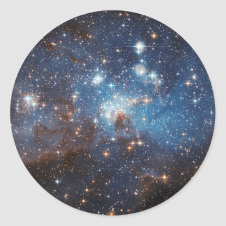 Cielo estrellado pegatina redonda