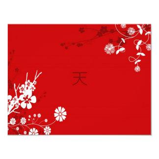 Cielo floral invitación 10,8 x 13,9 cm