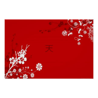 Cielo floral póster