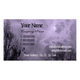 Cielo frecuentado púrpura y tarjeta de visita de