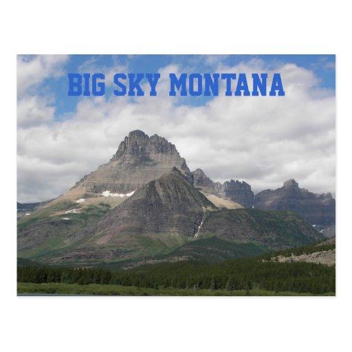 Cielo grande Montana Tarjeta Postal