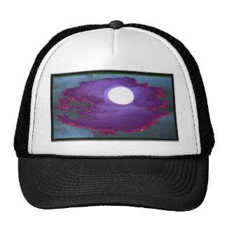 Cielo   hermoso del claro de luna gorras de camionero
