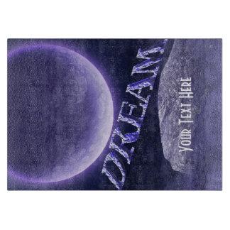 Cielo ideal de la luna de la fantasía inspirado tabla para cortar