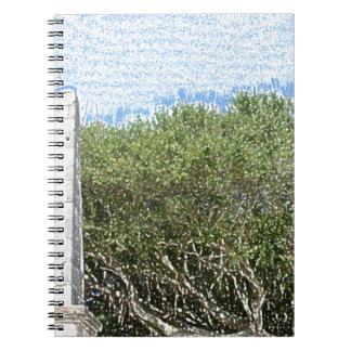 cielo la Florida de los árboles del paisaje del Libreta