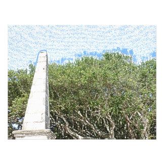 cielo la Florida de los árboles del paisaje del Tarjeta Publicitaria
