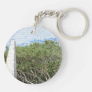 cielo la Florida de los árboles del paisaje del Llavero Redondo Acrílico A Doble Cara