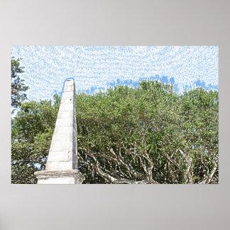 cielo la Florida de los árboles del paisaje del Posters