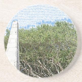 cielo la Florida de los árboles del paisaje del Posavasos Cerveza