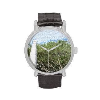 cielo la Florida de los árboles del paisaje del Reloj De Mano