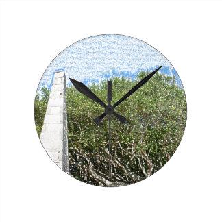 cielo la Florida de los árboles del paisaje del Reloj De Pared