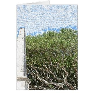 cielo la Florida de los árboles del paisaje del Tarjeta De Felicitación