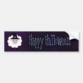 Cielo mágico del dibujo animado del feliz Hallowee Pegatina Para Auto