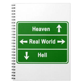 Cielo, mundo real y infierno cuaderno