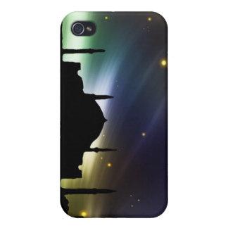 Cielo negro de la estrella de la mezquita - caso i iPhone 4/4S fundas