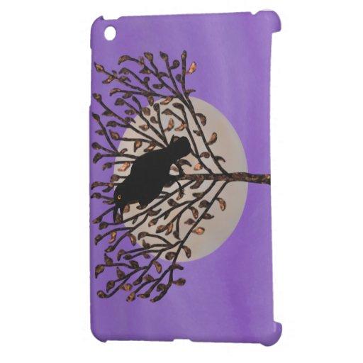 Cielo negro de la púrpura del cuervo iPad mini carcasa