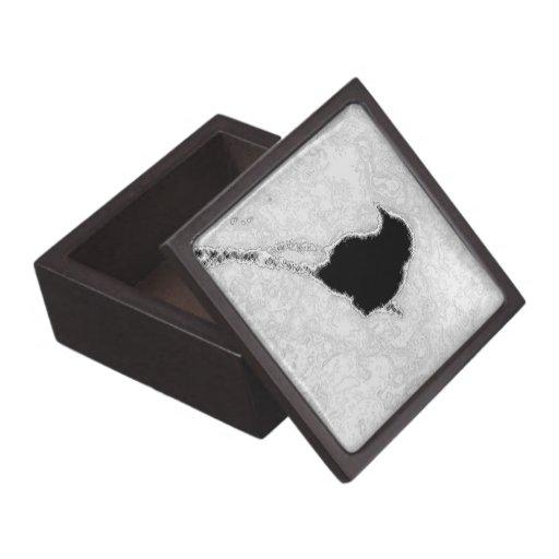 Cielo negro del gris del pájaro cajas de joyas de calidad