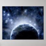 Cielo nocturno Airbrushed por completo de estrella Poster