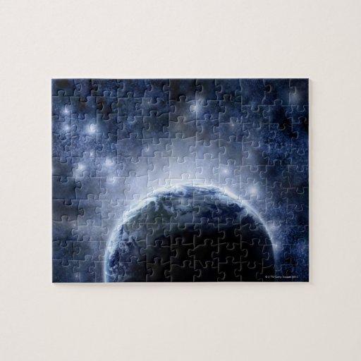 Cielo nocturno Airbrushed por completo de estrella Puzzles Con Fotos