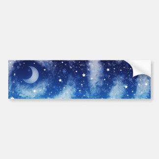 Cielo nocturno azul estrellado pegatina para auto
