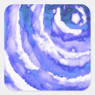 Cielo nocturno azul pegatinas cuadradases