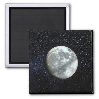 Cielo nocturno con la luna ~.jpg imán cuadrado